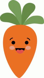 Cute carrot clipart.