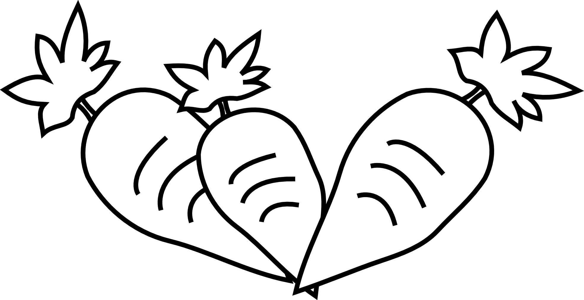 Carrot Clipart Black And White.