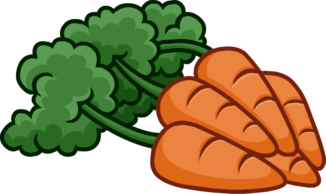 Bunch of carrots clipart.