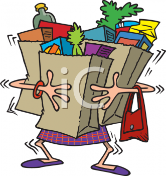 Carry bag clipart.