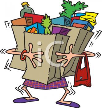 Carry bag clipart.