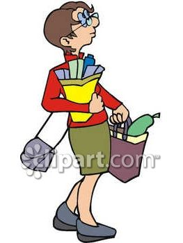 Carrying bag clipart.