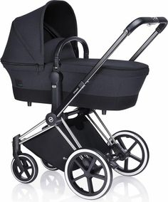 CYBEX Priam with Lux Seat in Manhattan Grey Plus.