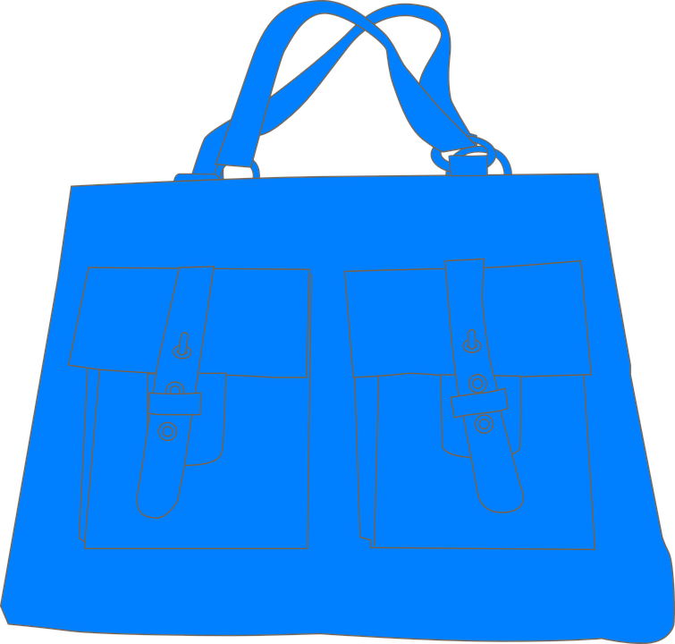 Free vector graphic: Handbag, Blue, Shopping, Carry.