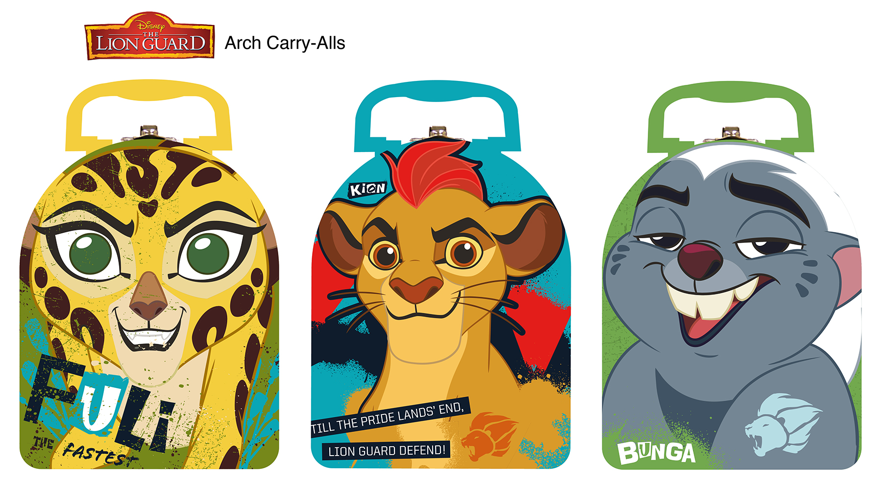 New Lion Guard Arch Shape Carry All (6 items).