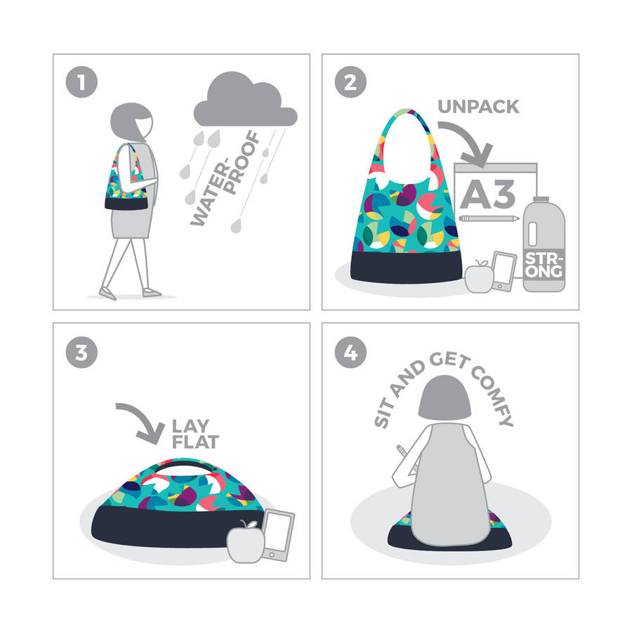 dog carry all bag and sit mat by rubbastuff.