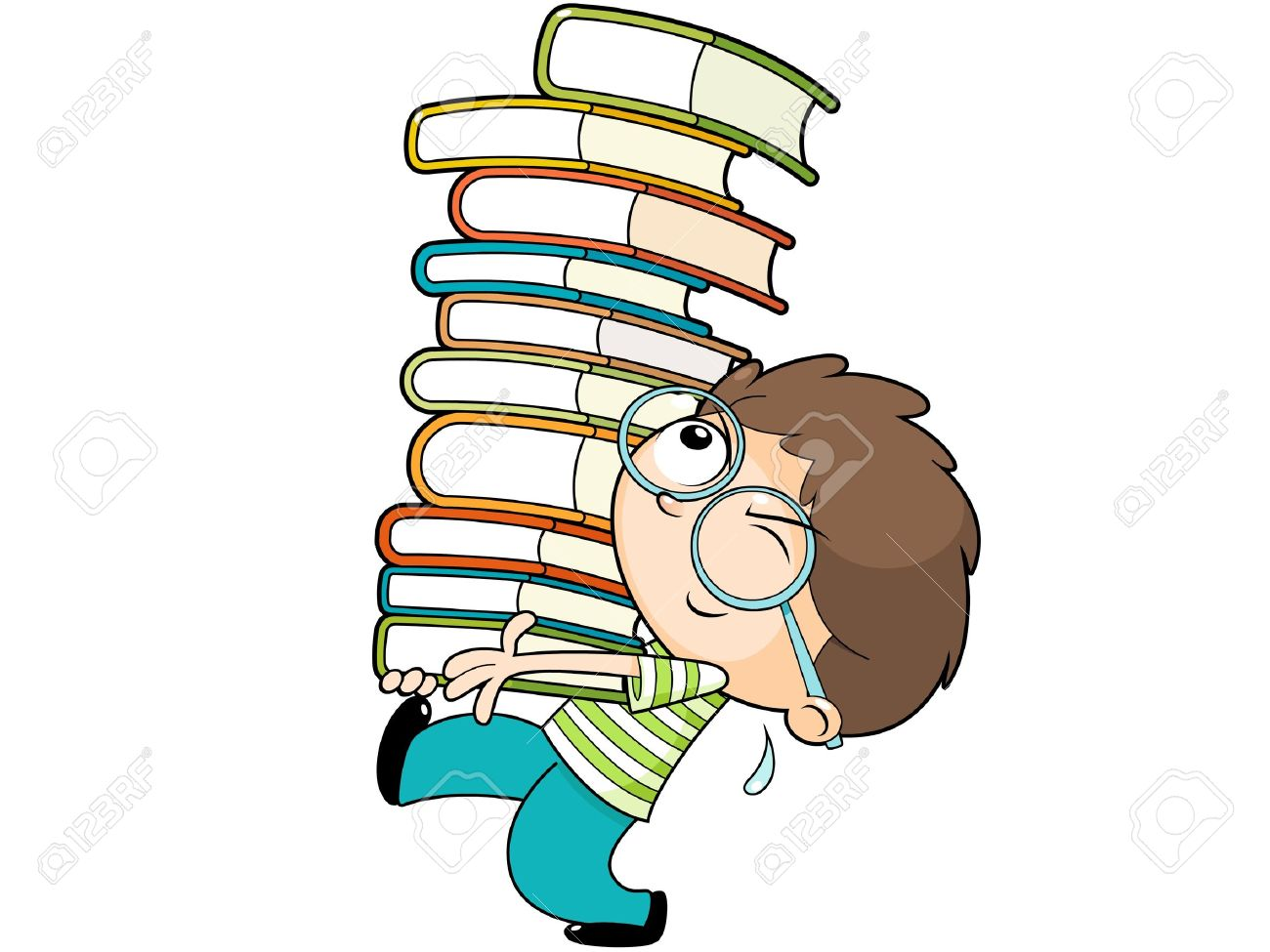 Chair For Reading Carrying Books Clipart Clipground