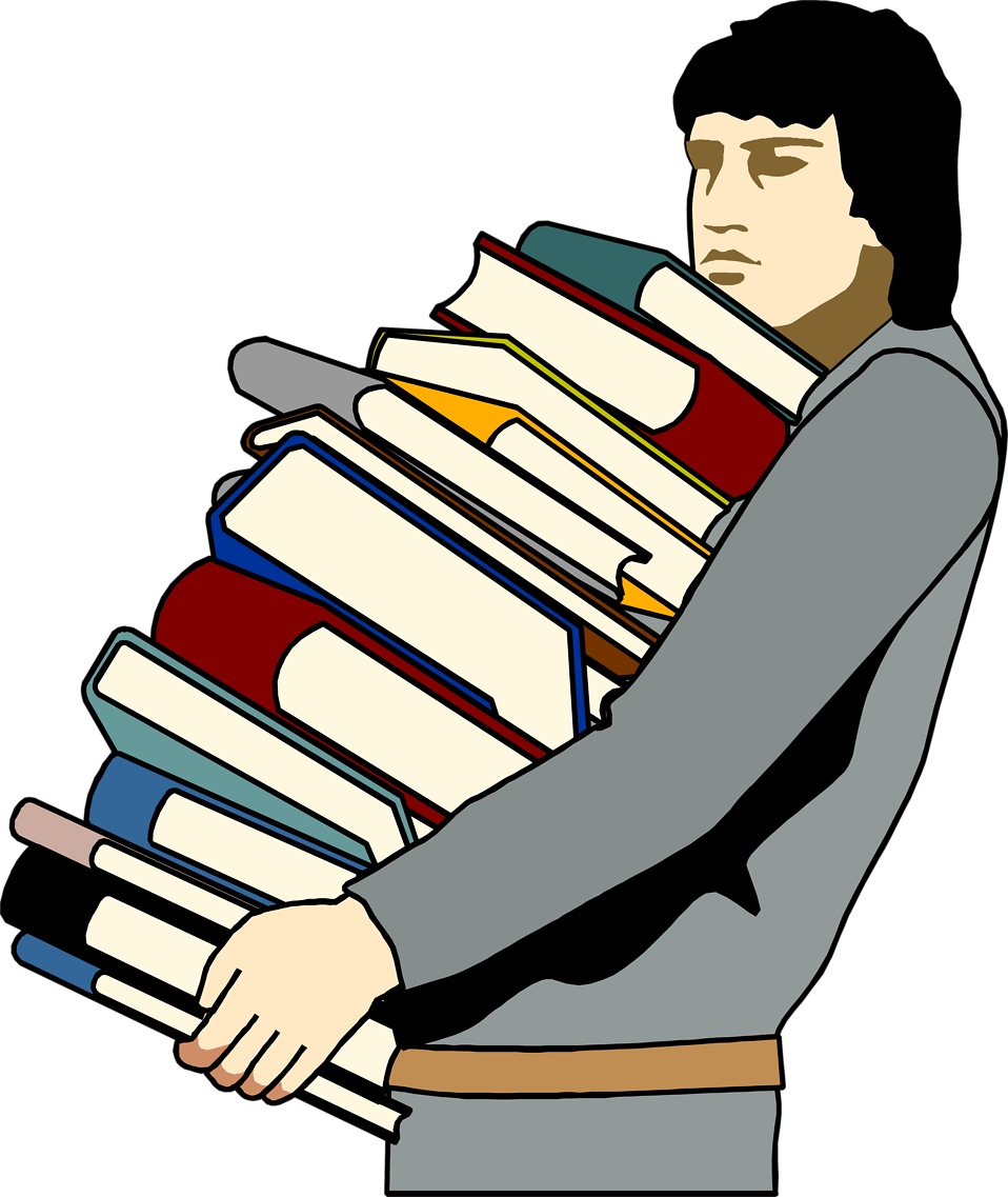 Clipart People Carrying Books.