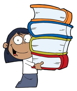 Carrying Books Clip Art.