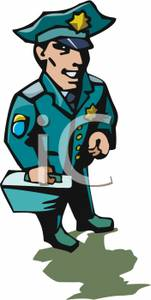 A_Policeman_Carrying_a_Case_Royalty_Free_Clipart_Picture_100105.