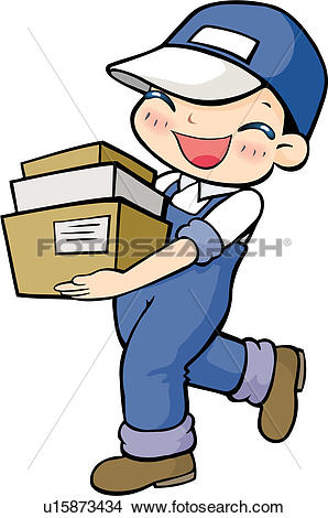 Drawings of delivering, carrying, package, case, delivery.