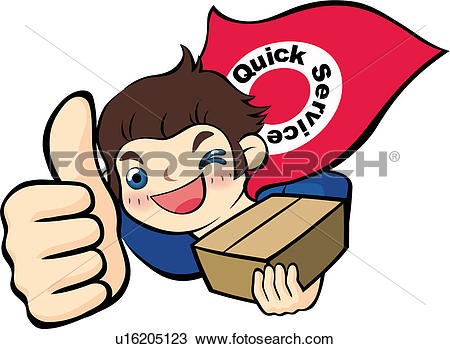 Drawing of carrying, delivery, package, case, delivering, quick.