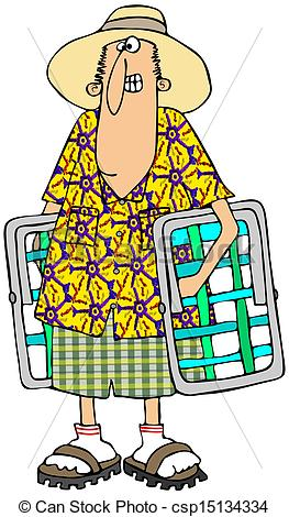 Lawn chair clipart.