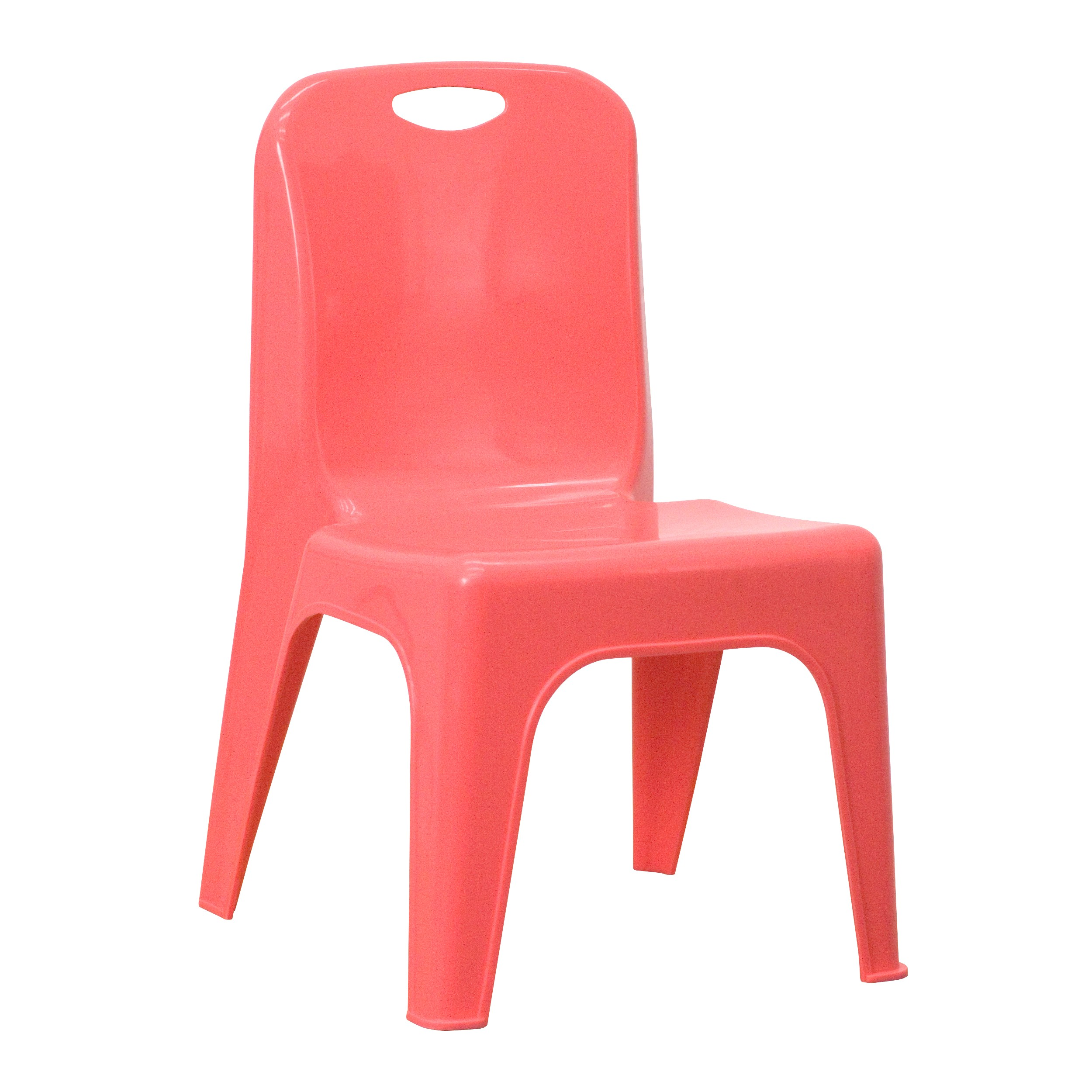 MFO Red Plastic Stackable School Chair with Carrying Handle and 11.