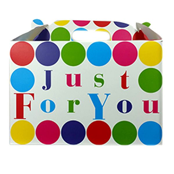 "Just For You"" Carry Handle Balloon Box."