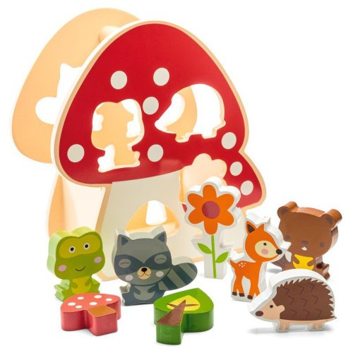 Woodland Animals Shape Sorter with Carry handle.