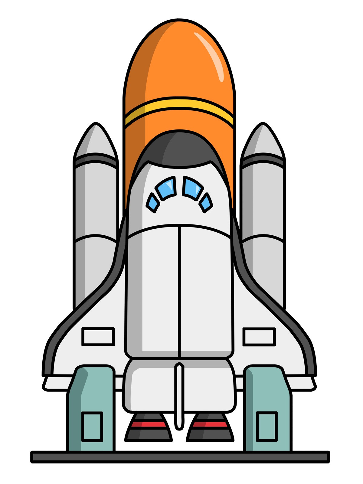 Space shuttle desktop clipart.