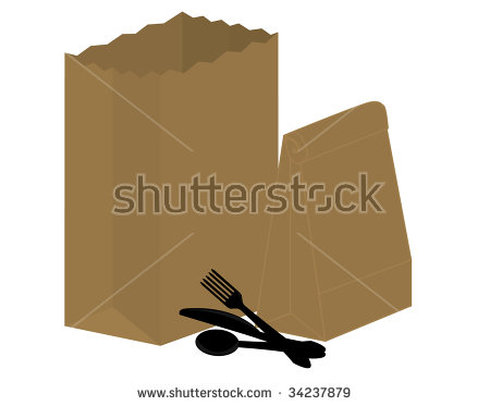 Bag Brown Isolated Paper Takeout Stock Photos, Royalty.