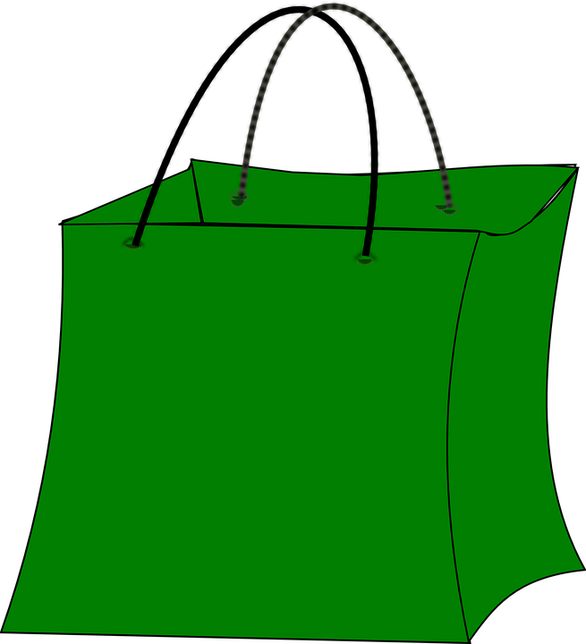 Free vector graphic: Bag, Shopping, Green, Big, Paper.