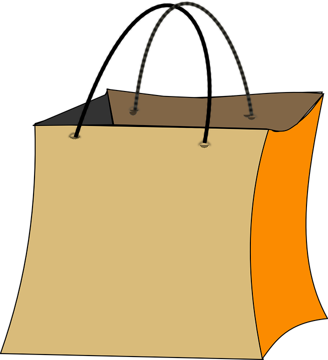 Free vector graphic: Bag, Shopping, Orange, Yellow, Big.