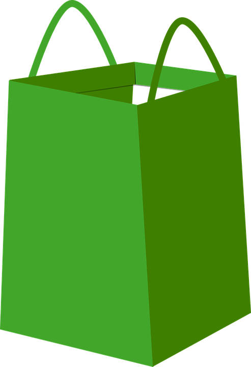Free vector graphic: Bag, Shopper, Green, Paper, Empty.