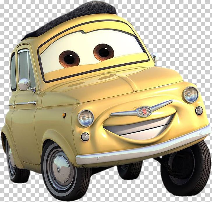 Luigi Mater Cars 2, luigi, beige Disney Cars character.