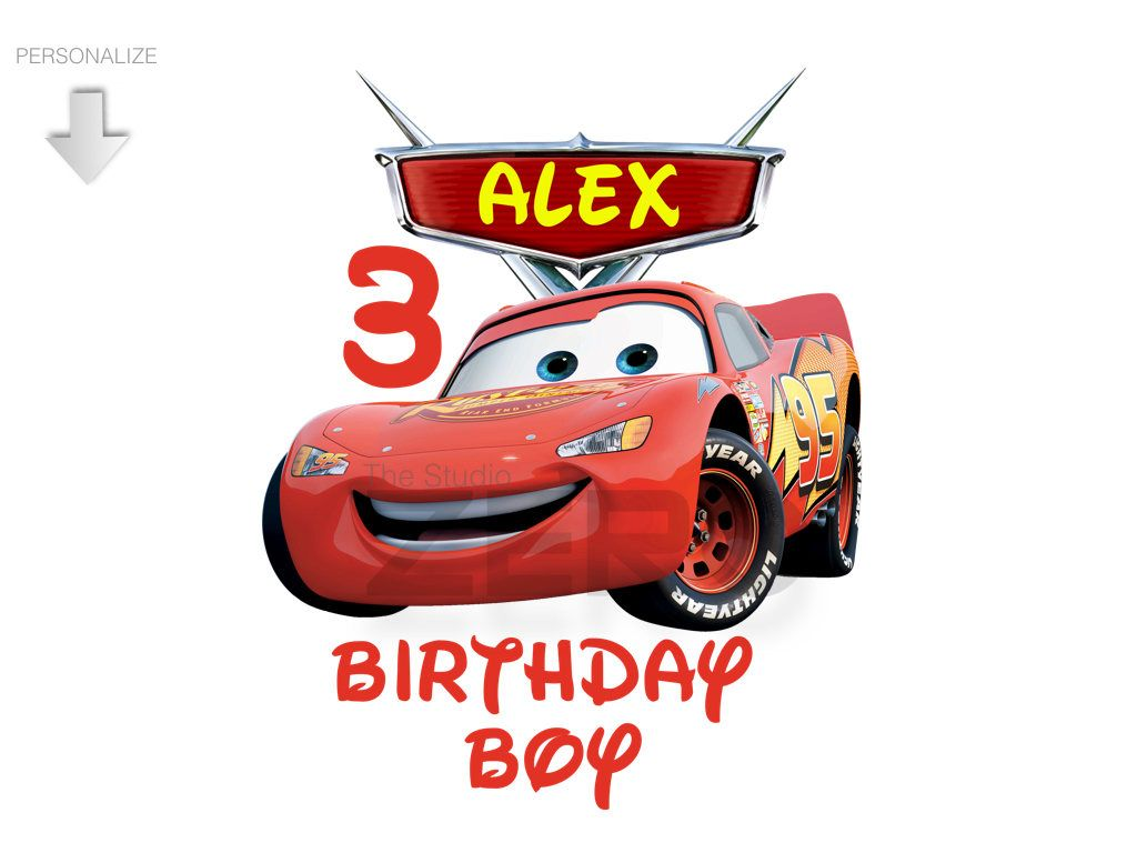 Cars Clipart, Personalize Birthday Clipart, Bday Boy, Cars Iron On.