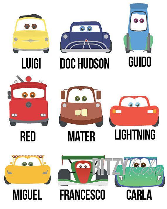 Disney Cars Nursery Boy Pixar Cars 2 Art Print Set of by.