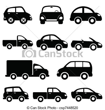 Car and truck icon set.