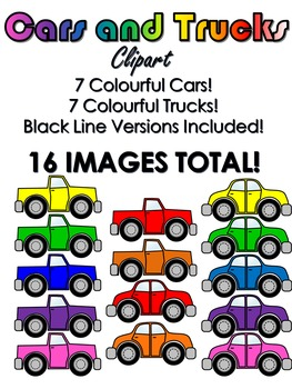 Cars and Trucks Clip Art.
