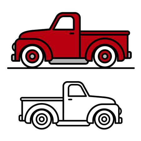 8,956 Pickup Truck Stock Vector Illustration And Royalty Free Pickup.