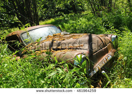 Cars Graveyard Stock Photos, Royalty.