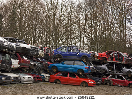 Car Wrecks On German Car Cemetery Stock Photo 25649221 : Shutterstock.