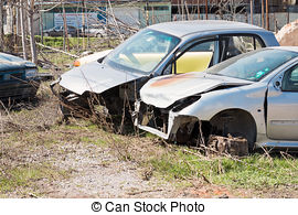 Stock Photographs of Car cemetery.