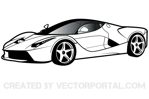 Sports Car Clipart Black And White Toys Games Complete Clip Art Nice.