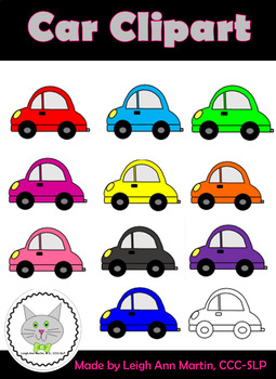 Colorful Cars Clipart.
