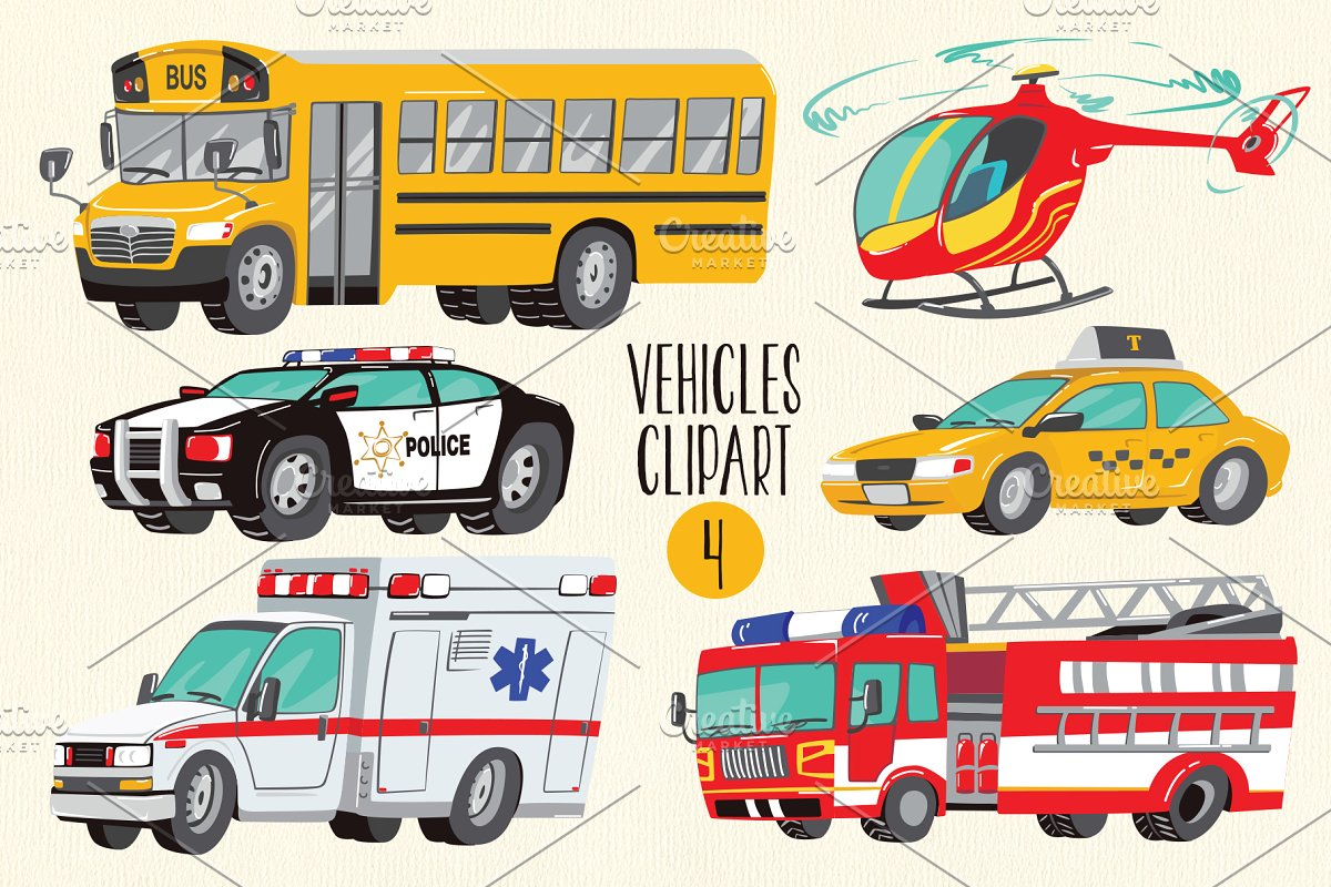 PNG Cars Clipart. Emergency Clipart.