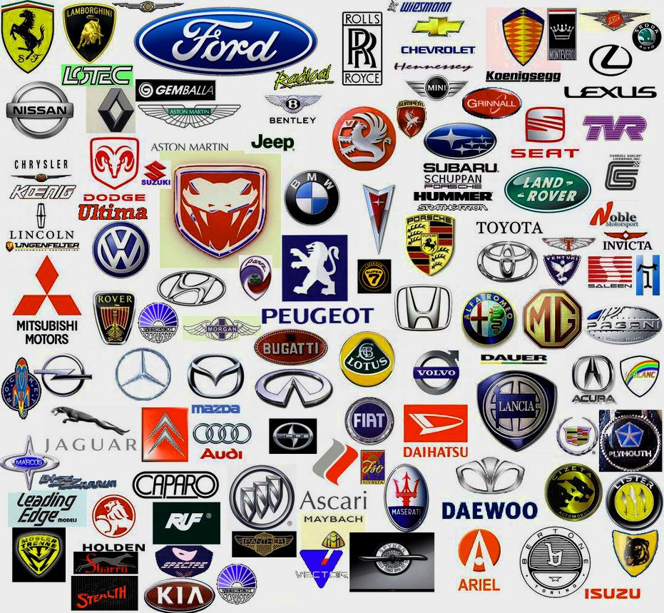 All Cars Logo With Name.
