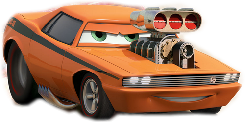 Orange Car From The Movie Cars (PNG).