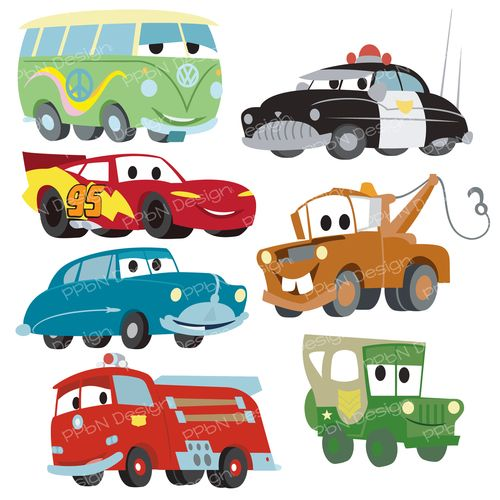 Disney Pixar Cars FREE SVG files and clipart images..
