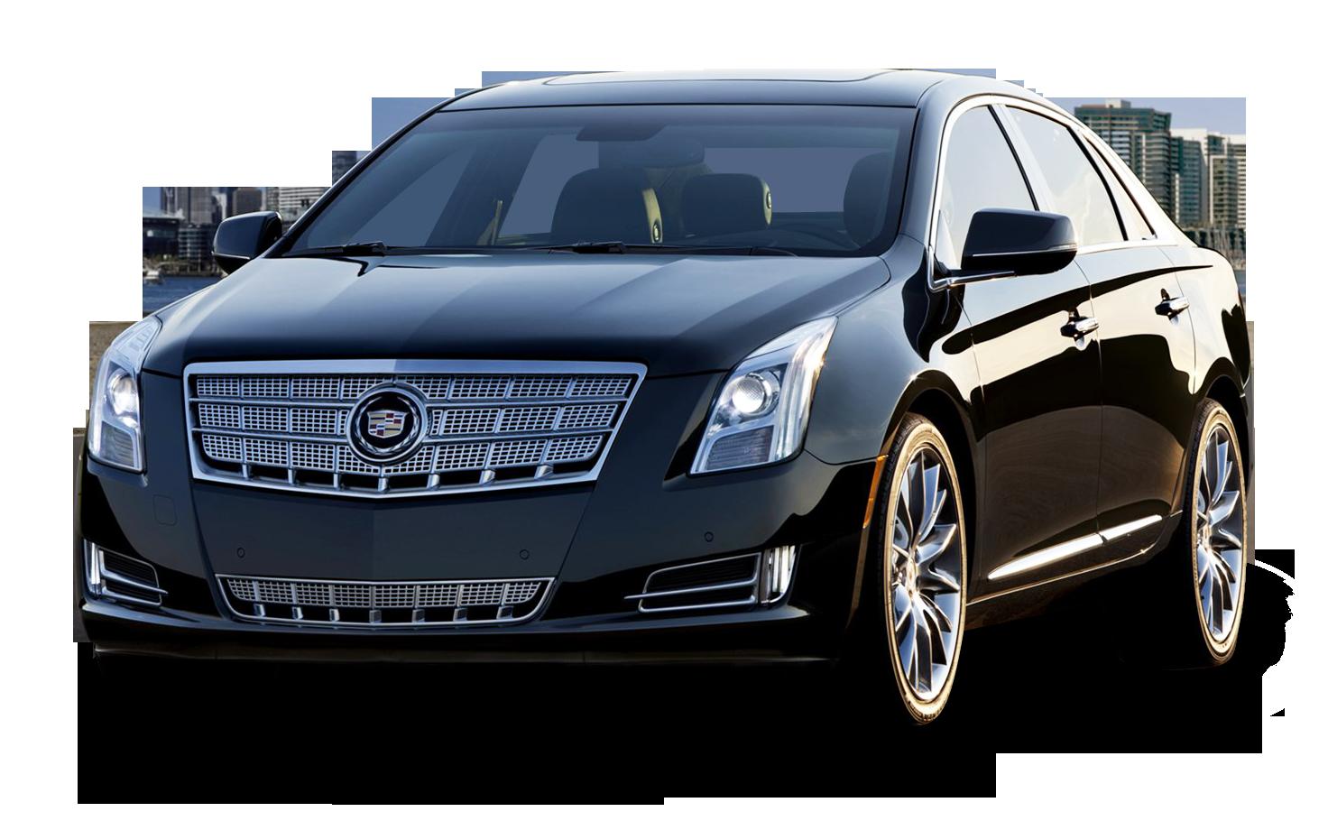 Cadillac XTS Black Car PNG Image.