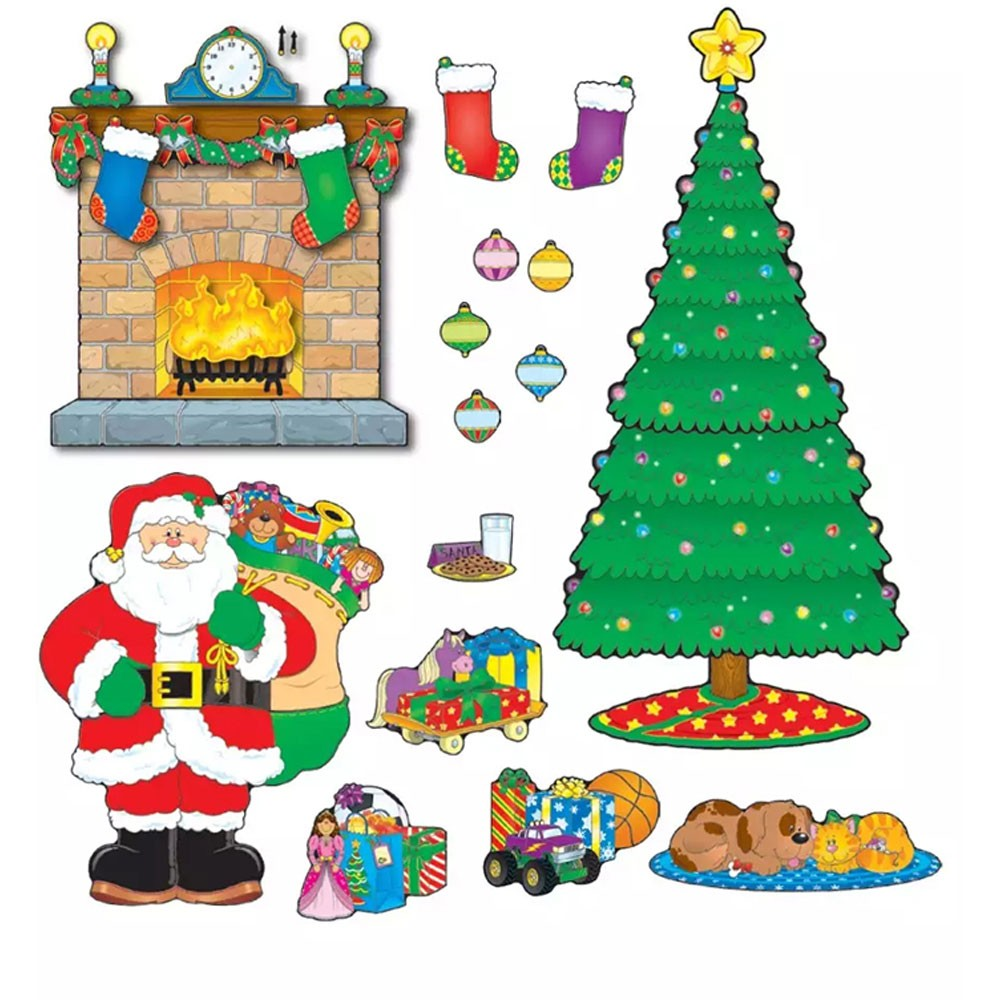 Christmas Scene Bulletin Board Set.