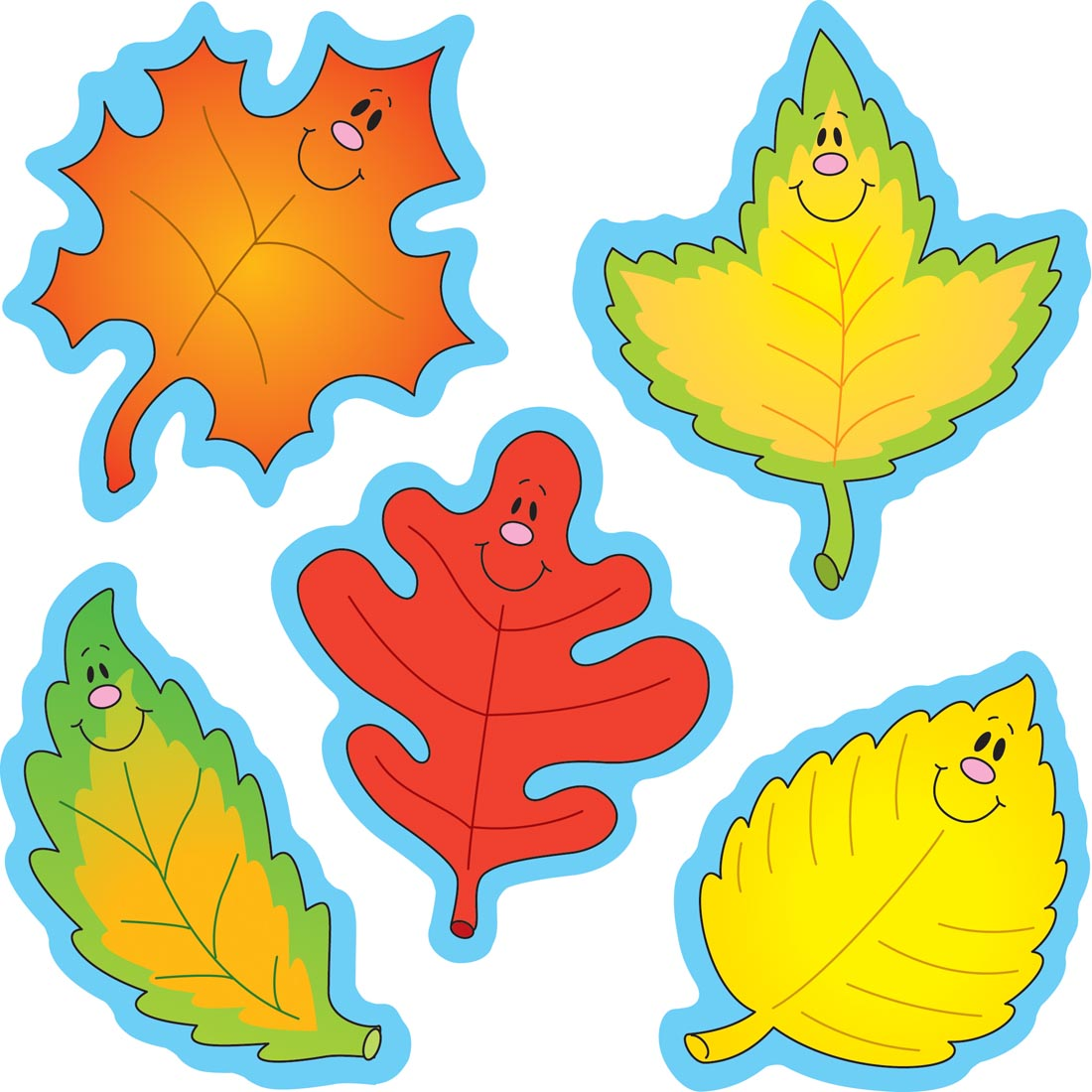 Fall Leaves Dazzle Stickers by Carson.