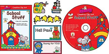 Carson Dellosa DJ Inkers School Stuff Clip Art (605003).