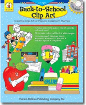 CARSON DELLOSA SCHOOL CLIP ART W CD.