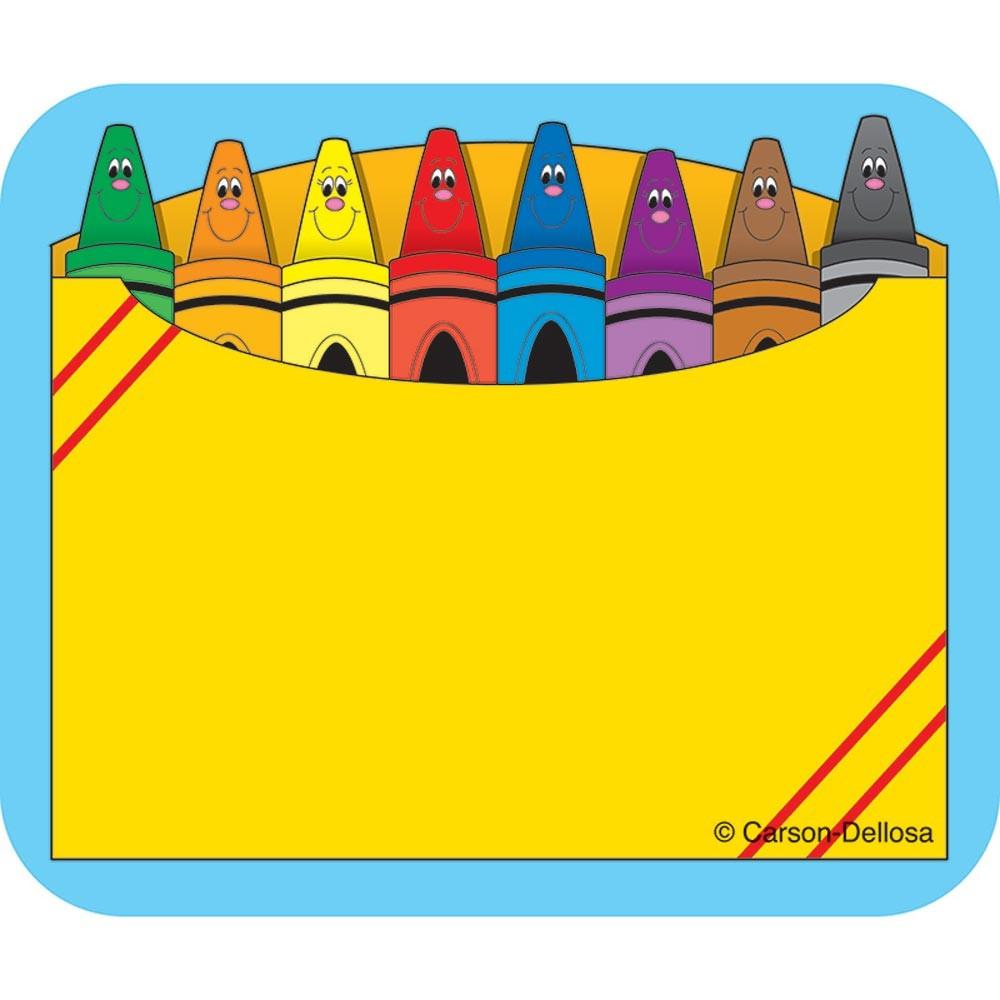 Crayon Box Name Tags CD 9412 Carson Dellosa Teacher.