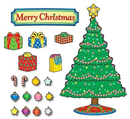 Carson Dellosa Christmas Tree Bulletin Board Set (110055).