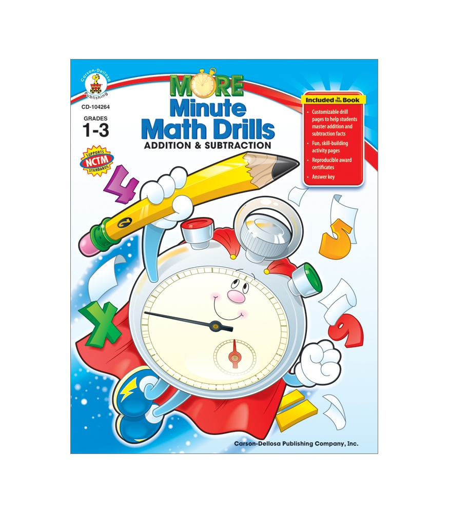 More Minute Math Drills Resource Book.