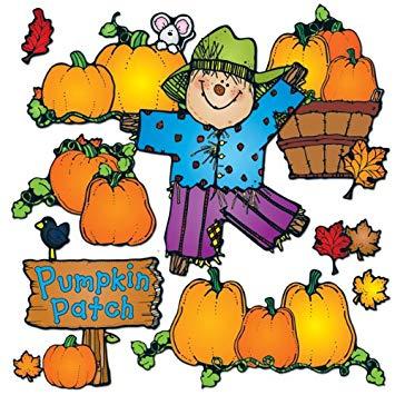 Carson Dellosa DJ Inkers Pumpkin Patch Bulletin Board Set (610048).