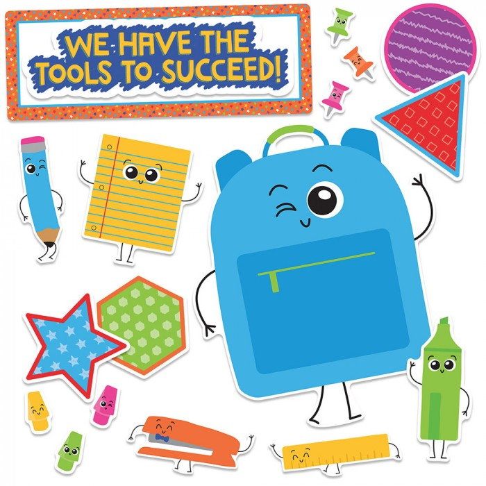 School Tools We Have the Tools to Succeed Bulletin Board Set by.